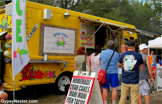 Food truck at Manatee Festival