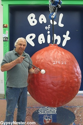 The World's Largest Ball of Paint!