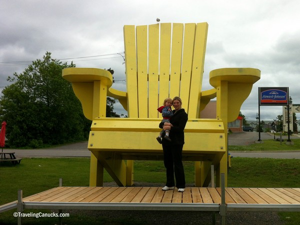 Huge Chair by Traveling Canucks