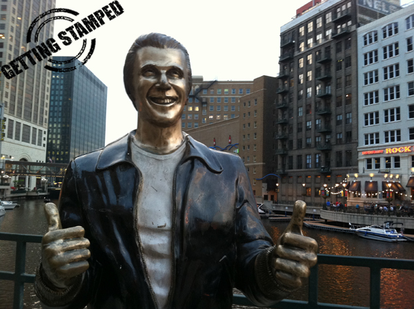 The Fonz in Milwaukee from Getting Stamped