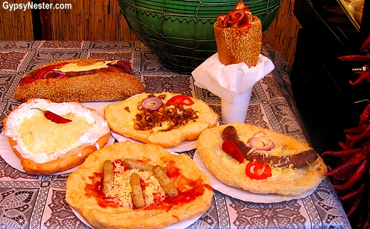 Food at the Christmas Market in Budapest, Hungary