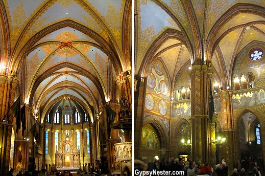 Inside Matthias Church serves as the second most important church in Budapest, Hungary