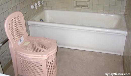 The wicker toilet in the Deere-Wiman House in Moline Illinois