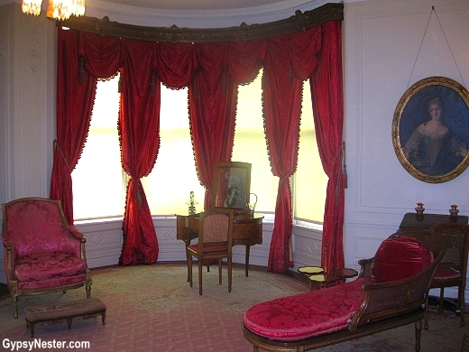 The Rose Bedroom in the Deere-Wiman House in Moline Illinois