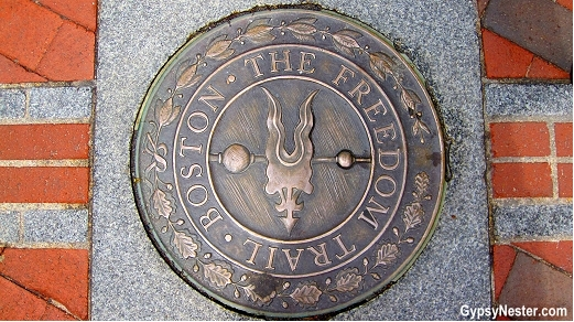 The Freedom Trial Marker in Boston