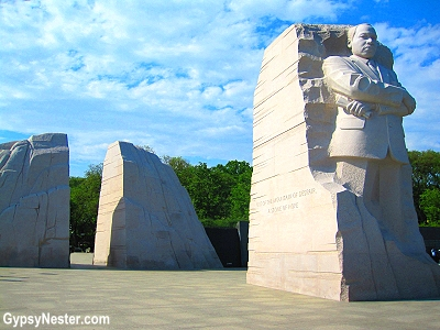 The Martin Luther King Memorial in Washington DC