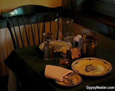 Table setting at City Tavern in Philadelphia
