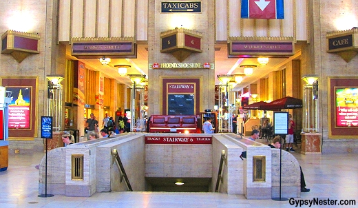Pennsylvania Railroad opened the Art Deco style terminal in 1933, and now it is Amtrak's 3rd-busiest station.