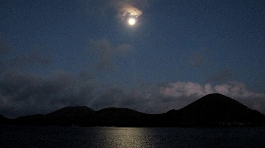 Moon over the Galapagos