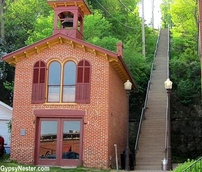 The hill Ulysses S. Grant climbed to his home in Galena Illinois