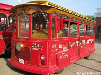 The trolley in Galena, Illinois