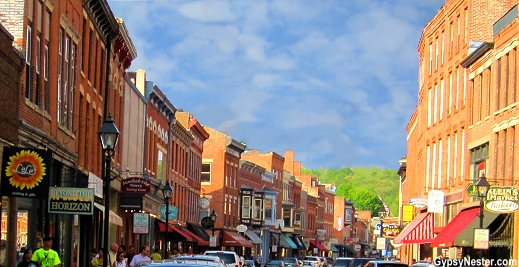 Main Street in Galena Illinois, a National Register Historic District