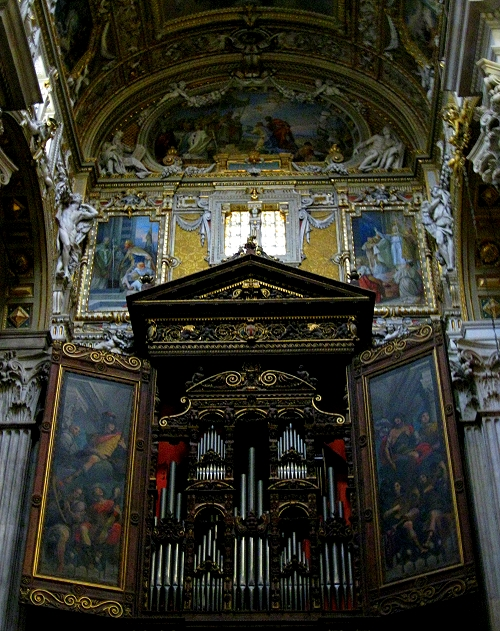 Pipe Organ in Cathedral San Lorenzo, Genoa Italy