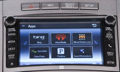 The touch screen on the 2013 Toyota Venza