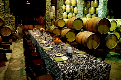Dinner in the Barrel Room at Sanford Winery