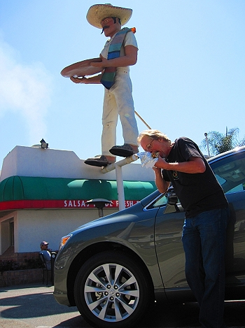 Huge taco guy in Malibu!