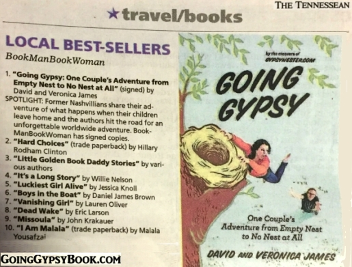 Going Gypsy is the #1 Bestseller in Nashville!