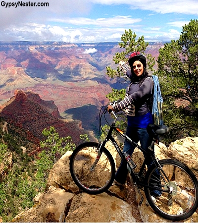 Veronica bikes the Grand Canyon! GypsyNester.com