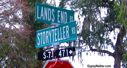 The crossroads of Lands End and Storyteller Roads in Gullah Country