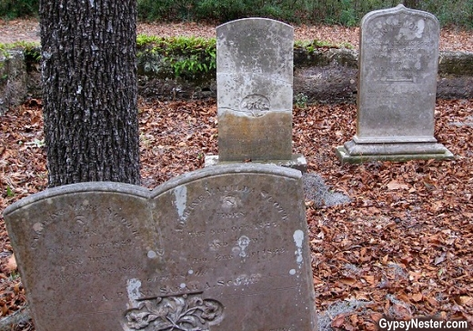 Tombstones at the Chapel of Ease in Helena, South Carolina
