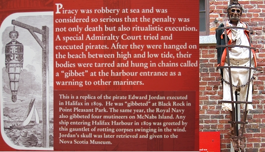 the gibbet, a particularly gruesome form of pirate punishment