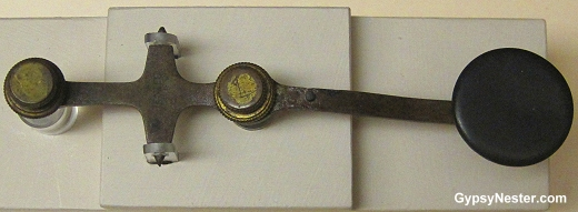 The telegraph key that Vincent Coleman used to alert trains coming into Halifax before the explosion
