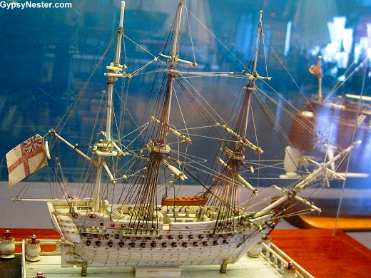 Model ship exhibits at the Maritime Museum of the Atlantic in Halifax, Nova Scotia, Canada