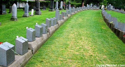 Many Titanic victims were never spoken for and are buried in three of the city's cemeteries, most in Fairview Lawn in Halifax, Canada