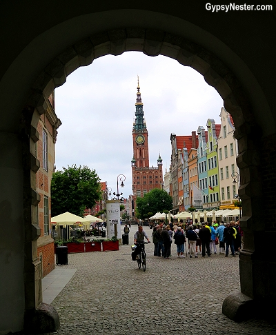 Entering Gdansk, Poland through the city gate