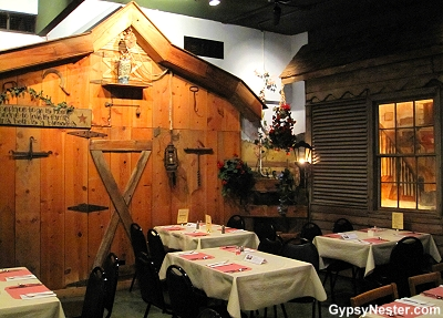 Each dining room at Hotel Nauvoo reflects different periods of Nauvoo's history