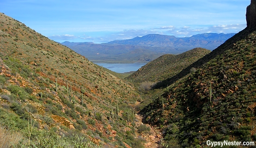 The hike to Tonto National Monument