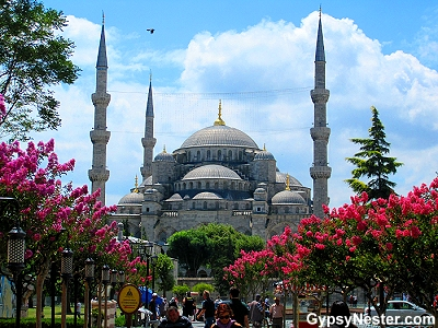 The Blue Mosque from Sultanahmet Square in Istanbul, Turkey