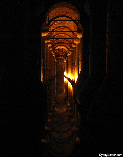 The relatively small amount of water remaining in the Basilica Cistern lends to fun reflection photography!