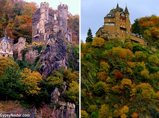 The castles of the Middle Rhine in Germany
