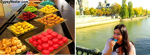 Macaroons by the Seine - glorious!