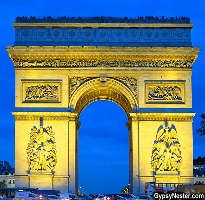 Next to the Eiffel Tower, the Arc de Triomphe may be the most recognizable monument in Paris