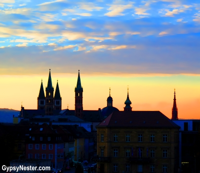 The spires of Würzburg, Germany