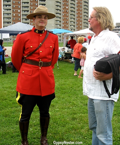 Canada Day - with a mountie!
