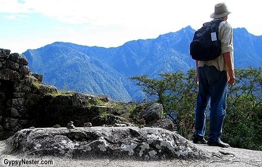 David hiking in Machu Picchu. GypsyNester.com
