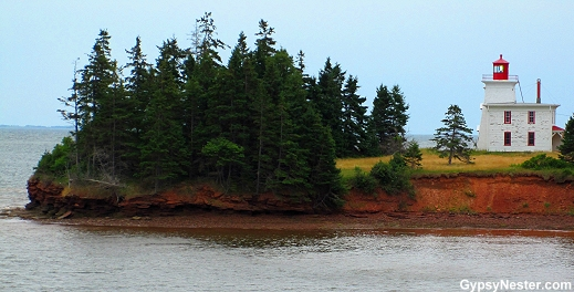 Lighthouse at Port-la-Joye / Fort Amherst, Prince Edward Island