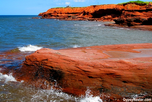 The stunning red cliffs of Prince Edward Island