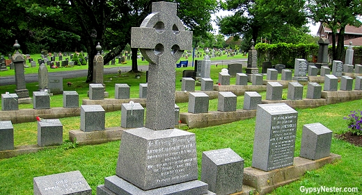 The graveyard were the Titanic Victims are buried in Halifax, Nova Scotia