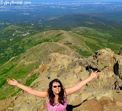 View from Flat Top Mountain in Anchorage, Alaska