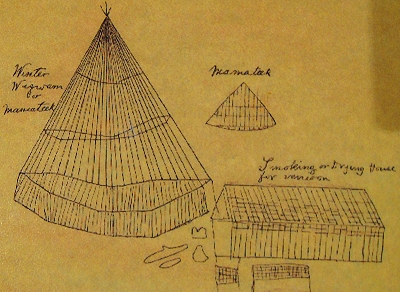 Shanawdithit's drawings at Beothuk Interpretation Centre Provincial Historic Site in Newfoundland, Canada
