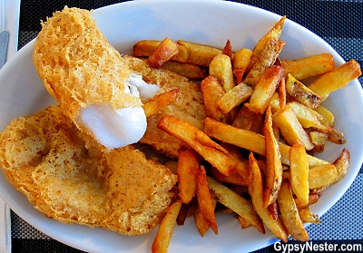 Fish and chips at the Gannet's Nest in St. Brides, Newfoundland