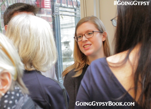 Jenny Pierson of Skyhorse Publishing, our editor, at the Going Gypsy book release party http://www.goinggypsybook.com