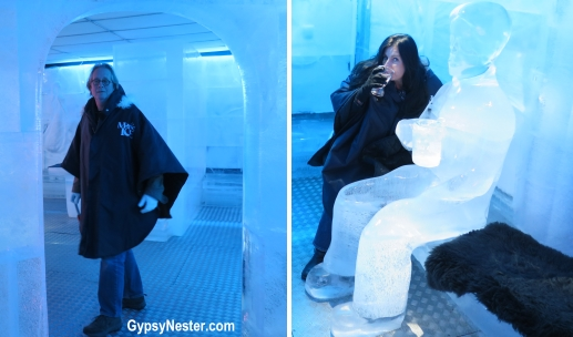 The GypsyNesters at Magic Ice Bar in Oslo, Norway