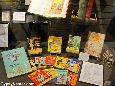The complete collection of OZ books at The Oz Museum in Wamego, Kansas