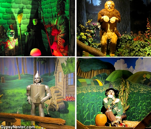 The Wicked Witch, Tin Man, Scarecrow, and Cowardly Lion at The Oz Museum in Wamego, Kansas
