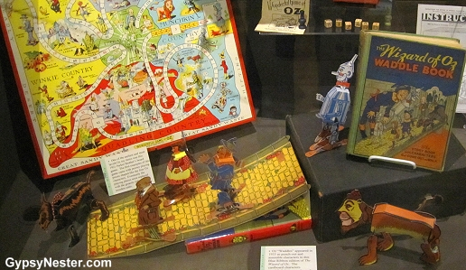 Waddle books and games at The Oz Museum in Wamego, Kansas